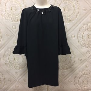 Women's Kate Spade Embellished Black Dress-16